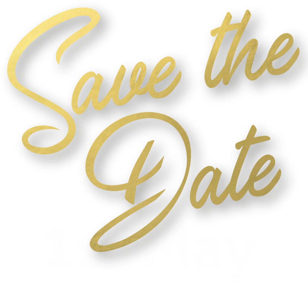 Text: Save the date - 1st May